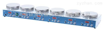上海梅穎浦數顯磁力攪拌器 H01-1D恒溫磁力攪拌器 多工位