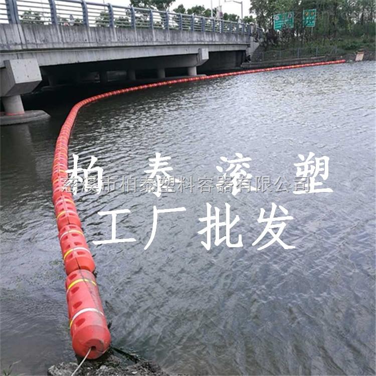 湖南水电站大浮力拦污浮筒 栓网式拦污漂排